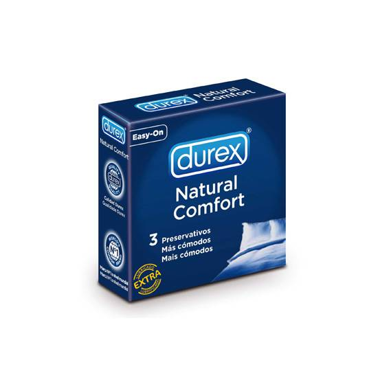DUREX NATURAL COMFORT 3 UDS - Cosmética Erótica Preservativos Natural - Sex Shop ARTICULOS EROTICOS