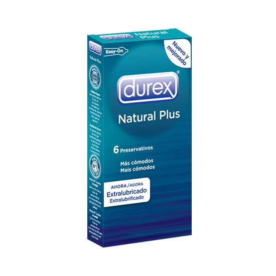 DUREX NATURAL PLUS 6 UDS - Cosmética Erótica Preservativos Natural - Sex Shop ARTICULOS EROTICOS