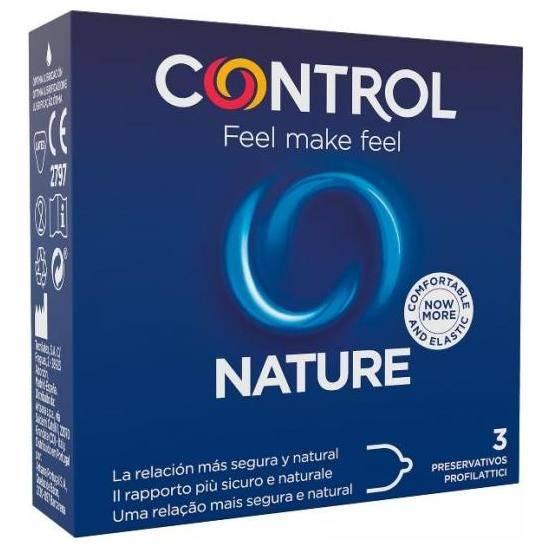 PRESERVATIVOS CONTROL NATURE 3UDS - Cosmética Erótica Preservativos Natural - Sex Shop ARTICULOS EROTICOS