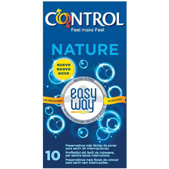PRESERVATIVOS CONTROL NATURE EASY WAY SOLUTION 10UDS - Cosmética Erótica Preservativos Natural - Sex Shop ARTICULOS EROTICOS