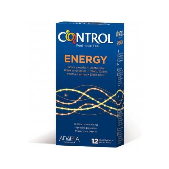 PRESERVATIVOS CONTROL ENERGY 12UDS - Cosmética Erótica Preservativos Resistente-Sex Shop ARTICULOS EROTICOS