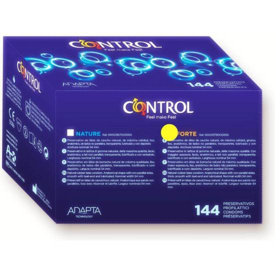 PRESERVATIVOS CONTROL FORTE CAJA PROFESIONAL 144 UDS - Cosmética Erótica Preservativos Resistente-Sex Shop ARTICULOS EROTICOS