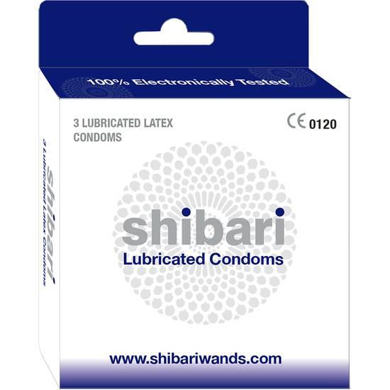 SHIBARI PRESERVATIVOS DE LÁTEX LUBRICADOS - CAJA DE 3 UDS - Cosmética Erótica Preservativos Resistente-Sex Shop ARTICULOS EROTICOS