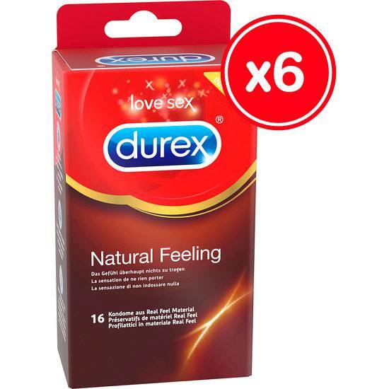 DUREX NATURAL FEELING 16 UDS (6 CAJAS) - Cosmética Erótica Preservativos Sensitivos-Sex Shop ARTICULOS EROTICOS