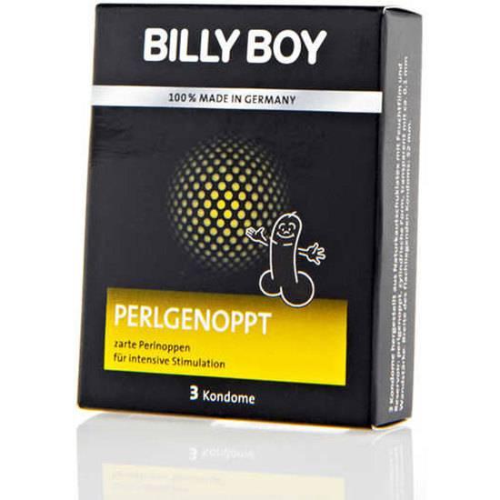 PRESERVATIVOS BILLY BOY PERLGENOPPT 3UDS - Cosmética Erótica Preservativos Sensitivos-Sex Shop ARTICULOS EROTICOS