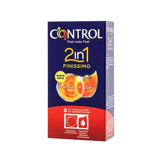 PRESERVATIVOS CONTROL 2IN1 FINISSIMO + LUBE NATURE 6UDS - Cosmética Erótica Preservativos Sensitivos-Sex Shop ARTICULOS EROTICOS