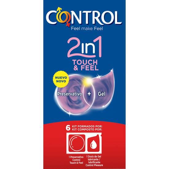 PRESERVATIVOS CONTROL 2IN1 TOUCH & FEEL + LUBE 6UDS - Cosmética Erótica Preservativos Sensitivos-Sex Shop ARTICULOS EROTICOS