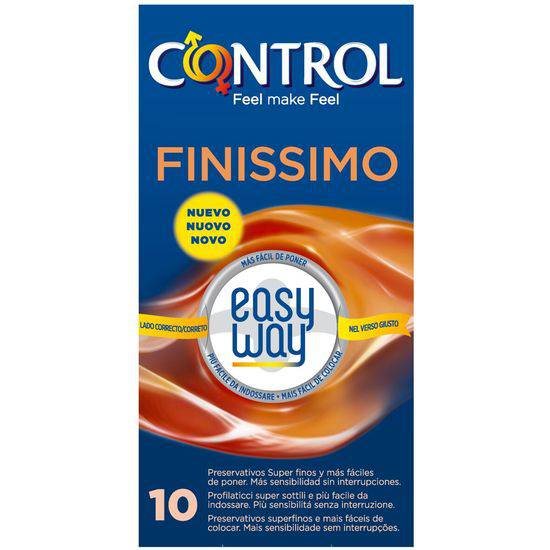 PRESERVATIVOS CONTROL FINISSIMO EASY WAY 10UDS - Cosmética Erótica Preservativos Sensitivos-Sex Shop ARTICULOS EROTICOS