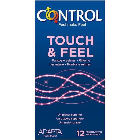 PRESERVATIVOS CONTROL TOUCH & FEEL 12UDS - Cosmética Erótica Preservativos Sensitivos-Sex Shop ARTICULOS EROTICOS