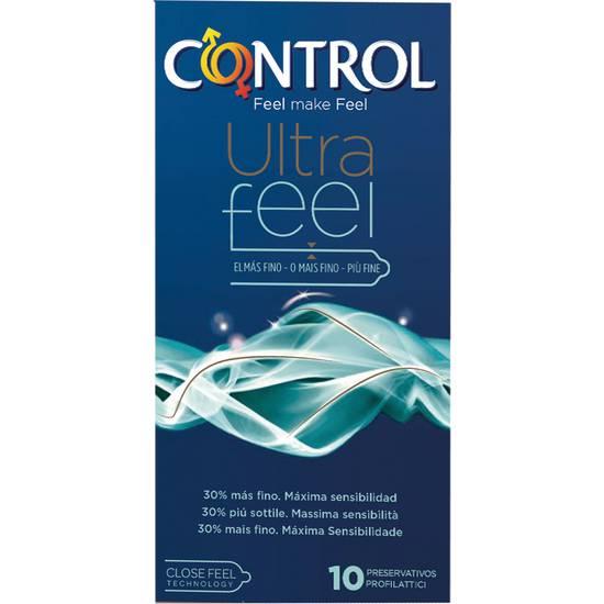 PRESERVATIVOS CONTROL ULTRAFEEL 10 UDS - Cosmética Erótica Preservativos Sensitivos-Sex Shop ARTICULOS EROTICOS