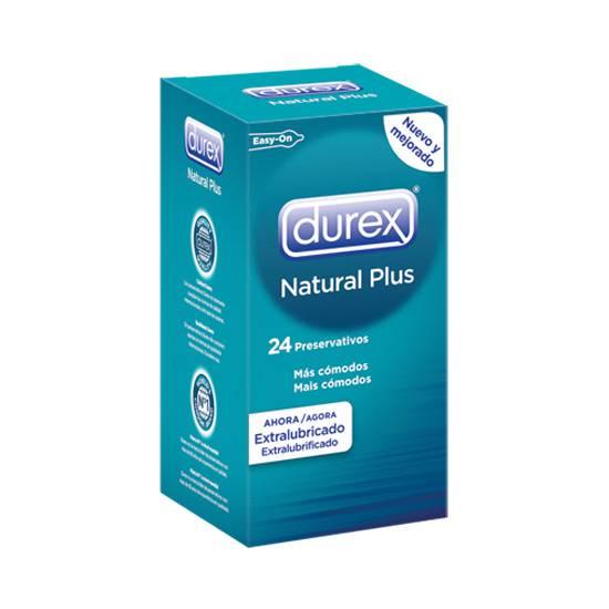 DUREX NATURAL PLUS 24 UDS | PRESERVATIVOS TAMAÑO XXL | Sex Shop