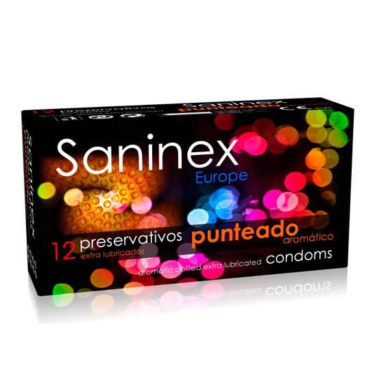 SANINEX PUNTEADO AROMATICO FLORAL 12 UDS | PRESERVATIVOS TEXTURIZADOS | Sex Shop
