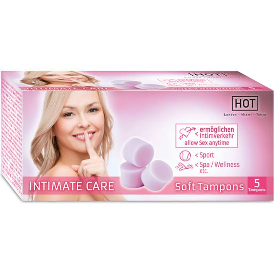 HOT INTIMATE CARE SOFT TAMPONES 5 UDS | VARIOS TAMPONES | Sex Shop